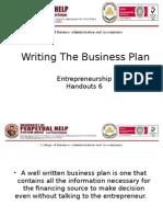 Entrepreneurship (Writing the Business Plan)