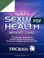 2014 Trojan Sexual Health Report Card