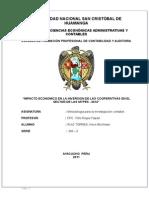 Tesiss Escasa Inversion Privada en La Ciudad de Huamanga