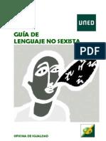 Guía Lenguaje No Sexista