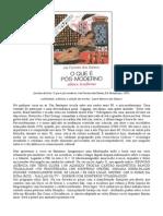 SANTOS, J. O Que é Pós-moderno