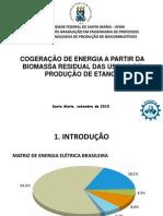 Cogeração na produção de Etanol