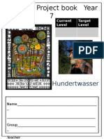 KS3 Art Project Book Hundertwaseser Year 7