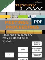 company law - meetings &  proceedings