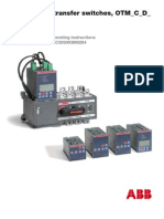 ABB OTM ATS Auto Transfer Switch Instruction Manual