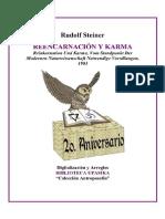 Rudolf Steiner Reencarnacion y Karma