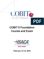 Isaca Cobit cours and Exam