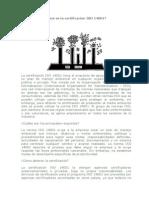 Qué Es La Certificación ISO 14001