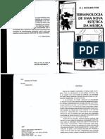 Terminologia de Uma Nova Estética - Koellreutter