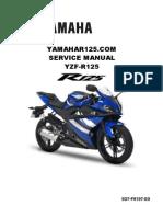 Yamaha Yzf r125 Service Manual
