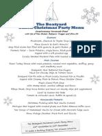 The Boatyard Restaurant Christmas Party Menus