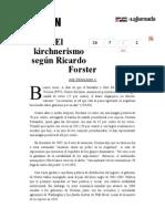 La Jornada- El Kirchnerismo Según Ricardo Forster