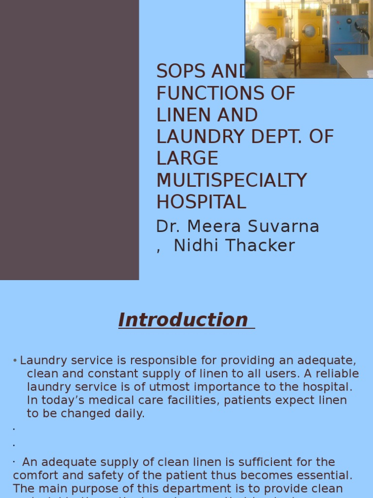 hospital laundry service options Laundry workers are primarily responsible for processing soiled laundry, linen, staff uniforms and patient apparel.