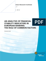 An Analysis of Financial Stability Indicators