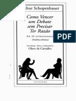 Como Vencer Um Debate Sem Precisar Ter Razão - Olavo de Carvalho