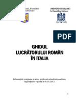 Ghidul Lucratorului Roman in Italia-1