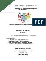Densidad Natural y Seca Parafina informe