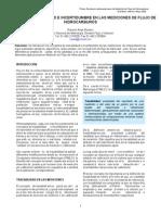 De La Trazabilidad e Incertidumbre en Las Mediciones de Flujo de Hidrocarburos