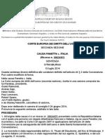 PANETTA v. ITALY - [Italian Translation] by the Italian Ministry of Justice