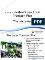West Cheshire's New Local Cheshire s Transport