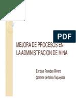 Mejora de Procesos en La Administracion de Mina Toquepala (Enrique Paredes)