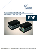 Grandstream Gxv3500 Ip Video Encoder User Manual