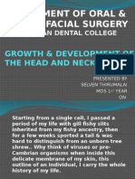 Growth & Development of the Head and Neck