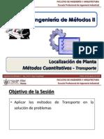 T3.4 - IM II - USMP - Localización de Planta - Métodos Cuantitativos - Método de Transporte