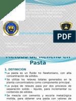 MÉTODO DE RELLENO CON PASTA