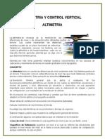 Altimetria y Control Vertical