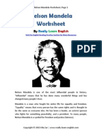 Worksheet Nelson Mandela english