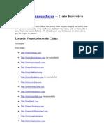 Lista de Fornecedores - Do Curso Caio Ferreira - Como importar da China