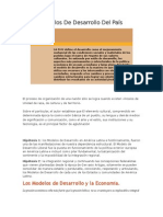 Modelos de Desarrollo Del País