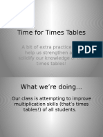 time for times tables