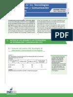 Informe Tecnico Tecnologias Informacion Abr May Jun2015 sobre la encuesta nacional de hogares