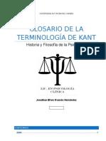 Glosario de La Terminologia de Kant
