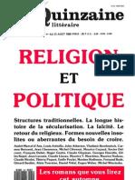 Quinzaine littéraire, 537, été 1989, spécial Religion et Politique