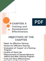 Training and Development Effectiveness P