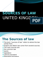 Sources of Law UK