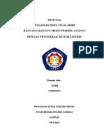 Proposal penelitian Teknik Mesin S1