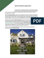 Landscape Architecture Home
