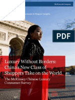 The Mckinsey Chinese Luxury Consumer Survey 2012
