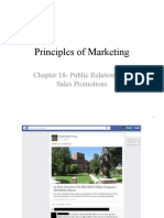 Chapter 18 Public Relations and Sales Promotions