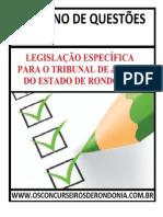 Caderno de Questões de Legislação Específica