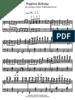 Ragtime Birthday Piano