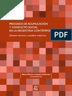 PROCESOS DE ACUMULACIÓN Y CONFLICTO SOCIAL EN LA ARGENTINA CONTEMPORÁNEA