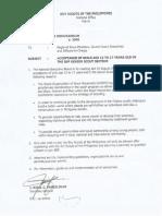 BSP National Office Memorandum No. 47, Series of 2006