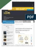 Lee la historia de los abuelos de Harry Potter escrita por J.K.pdf
