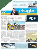 Edición Impresa El Siglo 28092015