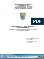 Software Enseñanza Biologia TESIS